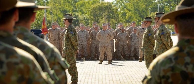 US Marines Arrive In Darwin